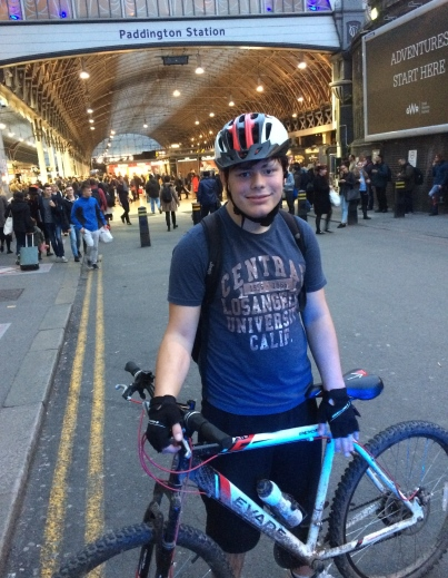 THE CYCLIST NOW ARRIVING AT PLATFORM 5 ...